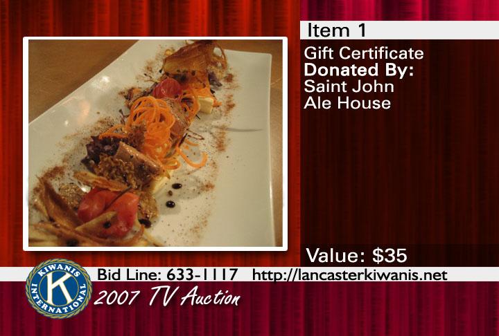 2007 Kiwanis TV Auction