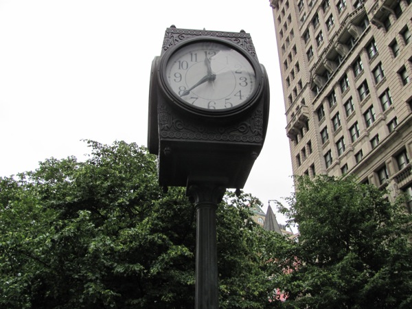 Clock on Broadway