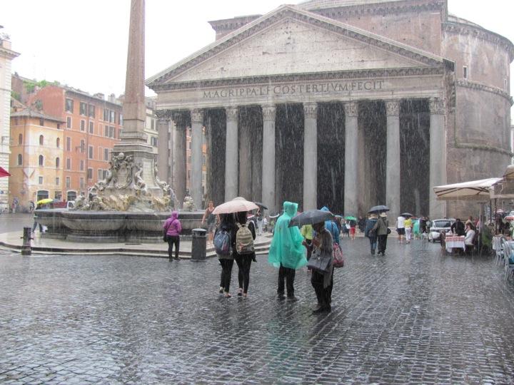 Rainy Day at the Pantheon