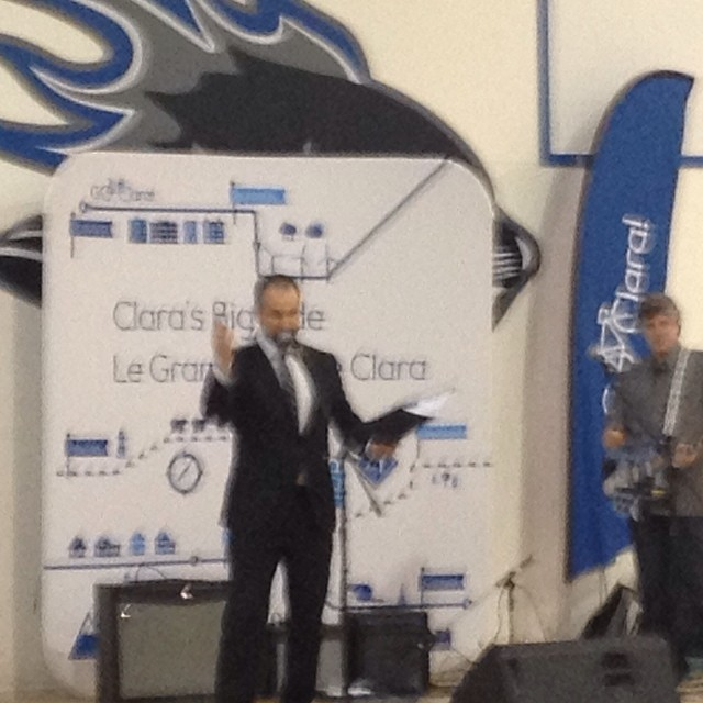 At #ClarasBigRide in Saint John.