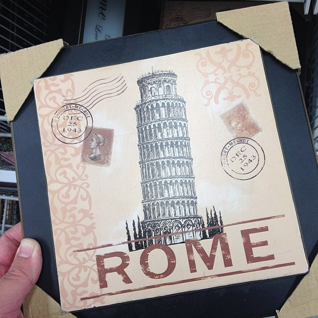 Perhaps they found out after printing thousands of them Pisa is nowhere near Rome.