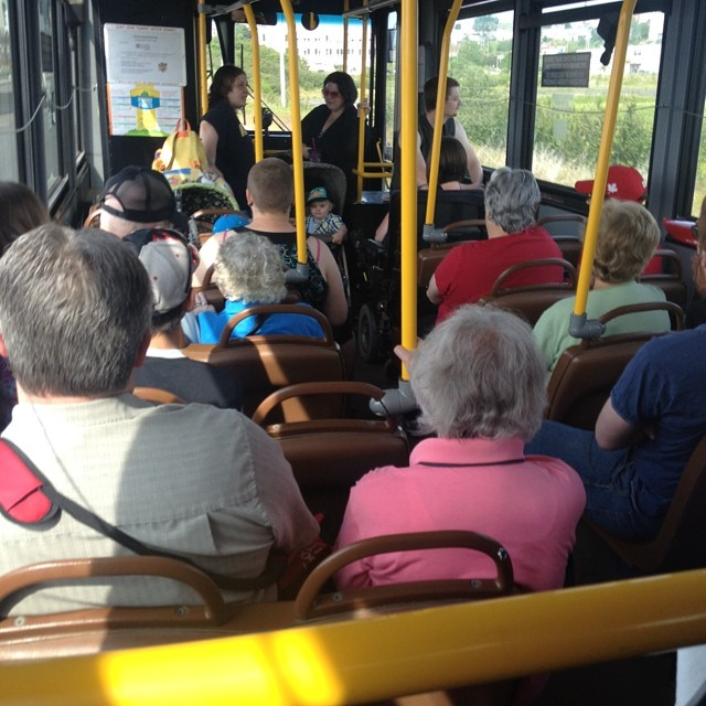 Too bad busses cannot be this busy more often.