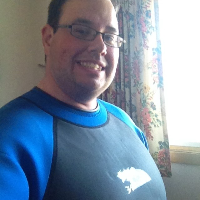 Off on an adventure. #wetsuit #selfie