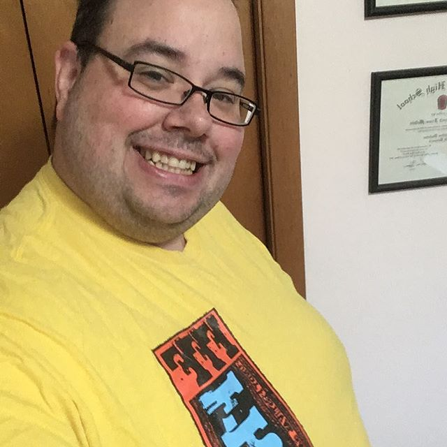 Tshirt a day selfie countdown to #fundyfringe start today. Year 1 the Yellow/Red/Blue year. #5daystofringe #bingethefringe