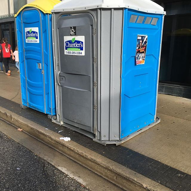 Totally accessible port-a-potty